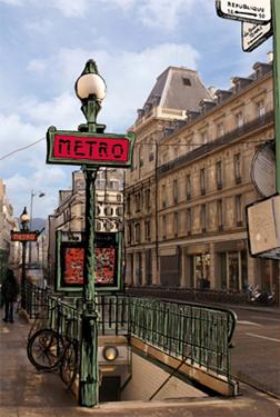 collage photo metro paris