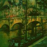 Le Pont Neuf à la péniche par Claude Garcia