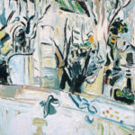 peinture couple quai de seine