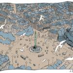 Place de Bastille vue du ciel par Julien Dugué