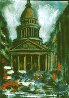 le pantheon peinture