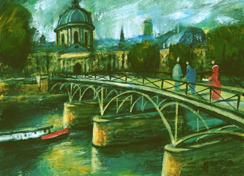 peinture pont des arts claude garcia