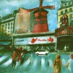 Peinture du Moulin Rouge par Claude Garcia