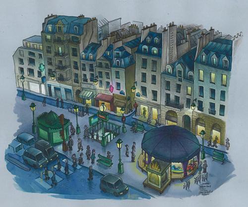 dessin st paul paris