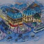 Place Saint-Michel par Jean-Martial Dubois