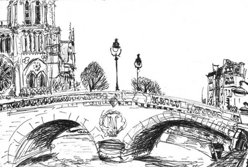 pont saint michel croquis