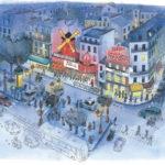 Moulin Rouge la nuit par Jean-Martial Dubois