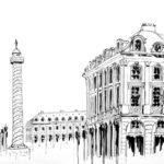 Dessin de la Place Vendôme par Adrien Berger