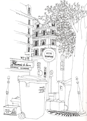 rue legendre dessin