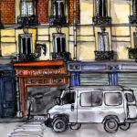 Dessin de la rue Saint-Sébastien par Chloé Roux