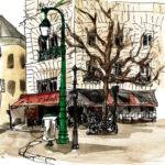 Dessin de la rue Bretagne par Chloé Roux