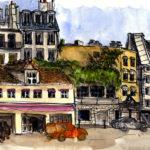 Dessin de la Rue Amelot par Chloé Roux