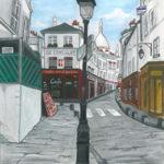 Tableau de la rue Norvins par Dagmar Gerlach
