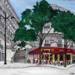 Café la Butte Montmartre par Dagmar Gerlach