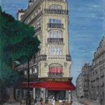 Peinture du café Francoeur par Dagmar Gerlach