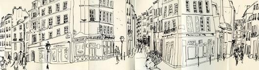 croquis rue des rosiers
