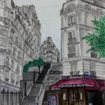 Peinture de la rue Becquerel par Dagmar Gerlach