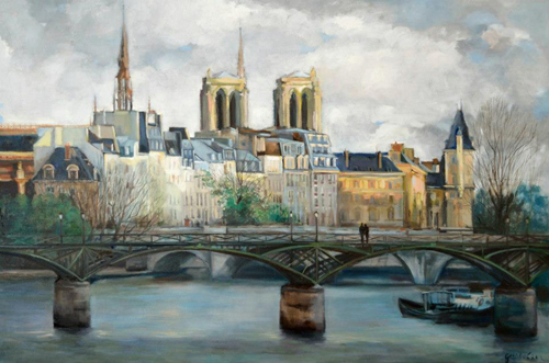 peinture pont des arts