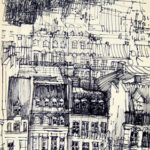 Croquis du Centre Pompidou par Magdalena Gatialova