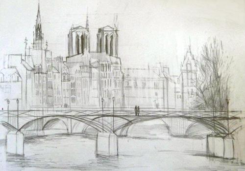 croquis pont des arts