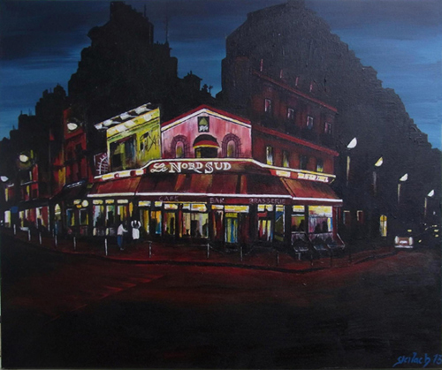 Jules Joffrin la nuit peinture