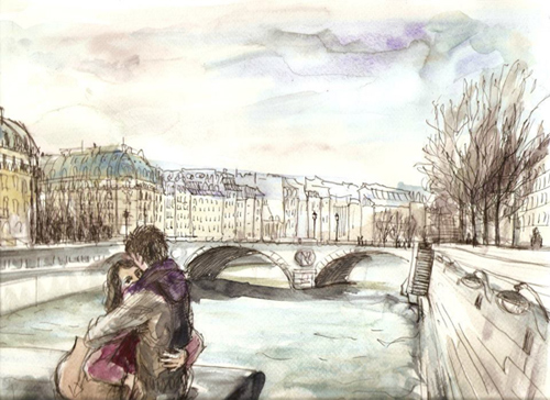 dessin couple seine