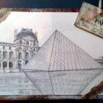Dessin du Louvre par Violette Cordeau