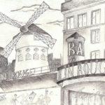 Dessin du Moulin Rouge par Violette Cordeau