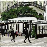 Illustration du Café de Flore par Cristina Sin