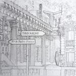 Dessin du Pont de Bir-Hakeim par Adrien Berger