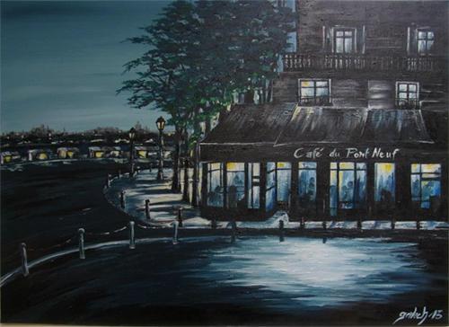 café pont neuf peinture
