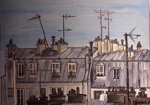 peinture toits paris