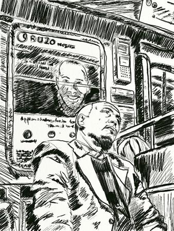 croquis passager metro