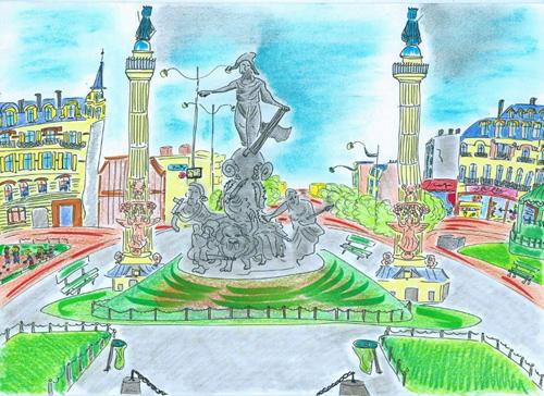 dessin nation paris