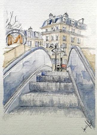 dessin gambetta paris