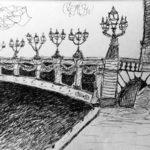 Croquis du pont Alexandre III par Bérénice Beaube