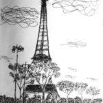 Tour Eiffel Croquis par Bérénice Beaube
