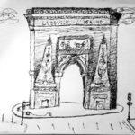 Croquis porte Saint Denis par Bérénice Beaube