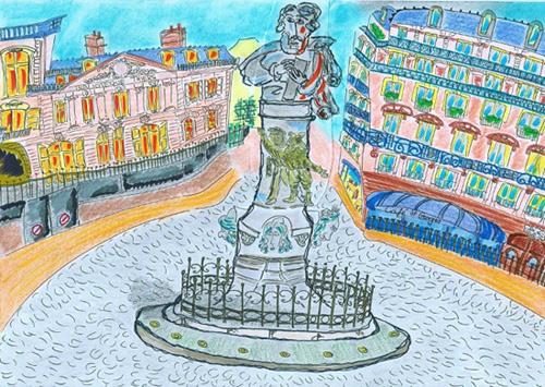 dessin place saint georges