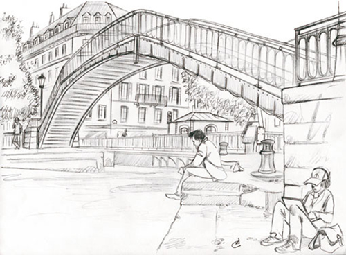 dessin canal st martin