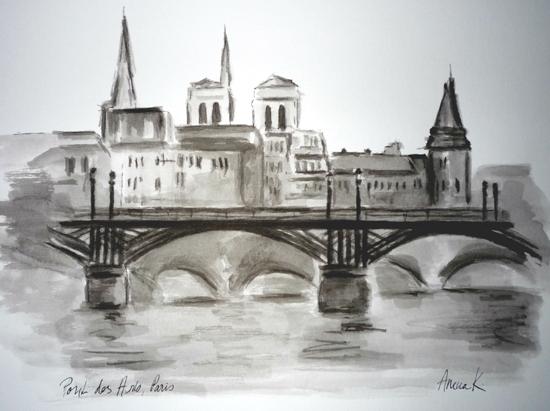 pont des arts dessin