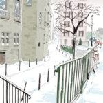 Dessin du quai de Montebello par Laurence Gérardin