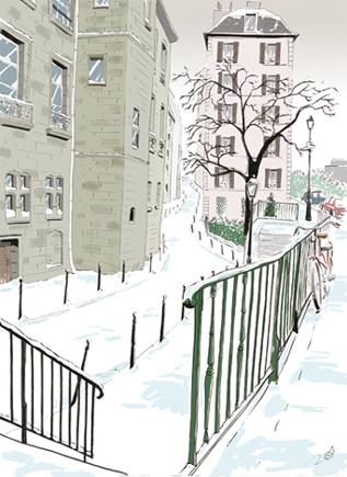 dessin quai montebello