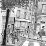 Dessin rue du moulin des près par Laurence Gérardin
