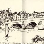 Dessin du pont Royal par Nick Richards