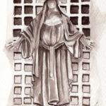 Statue au Père Lachaise par Francesco Fontana