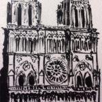 Croquis de Notre-Dame par Anne-Laure Chapelain