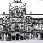 La façade du Louvre par Anne-Laure Chapelain