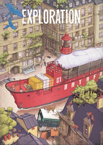 dessin bateau paris
