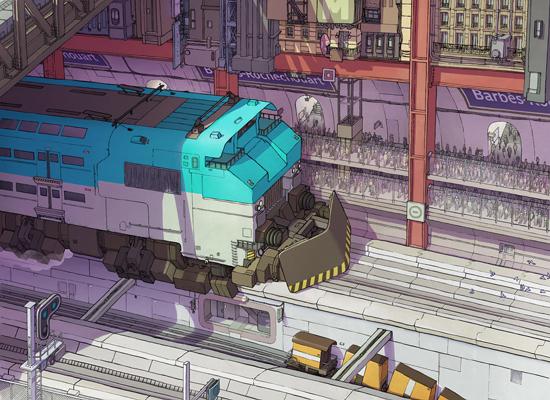 illustration metro paris futur